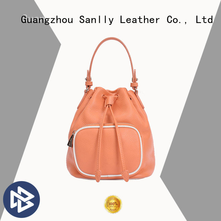 Sanlly fashion soft tan leather tote bag factory for modern women