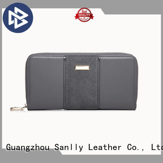 Sanlly portable women's leather billfold wallets ODM for single shoulder