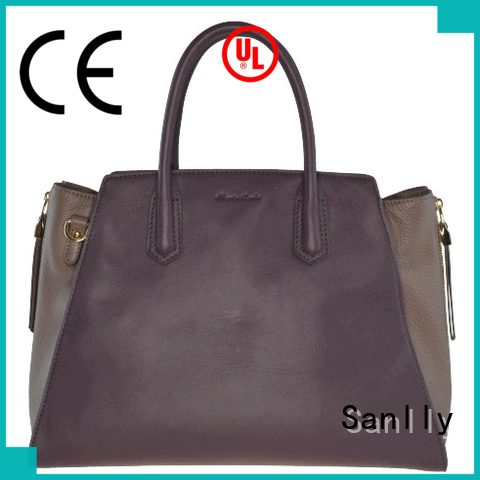 Sanlly high quality ladies leather handbags winter suede for winter
