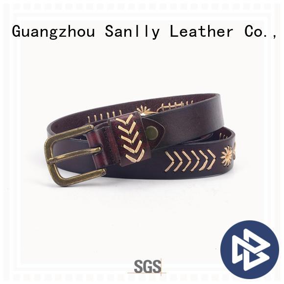 Sanlly belt best mens leather belts OEM for modern men