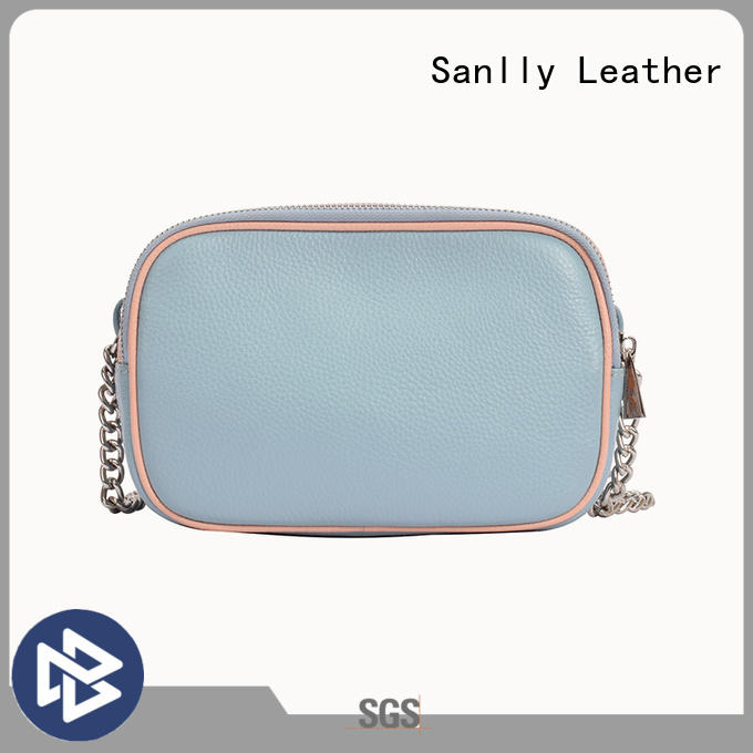 Sanlly real ladies soft leather shoulder bags customization for women