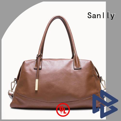 Sanlly handmade women's leather handbags bulk production for modern women