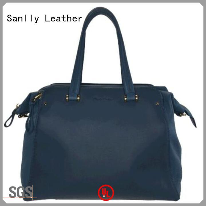 Sanlly leather womens grey bag Supply for fashion