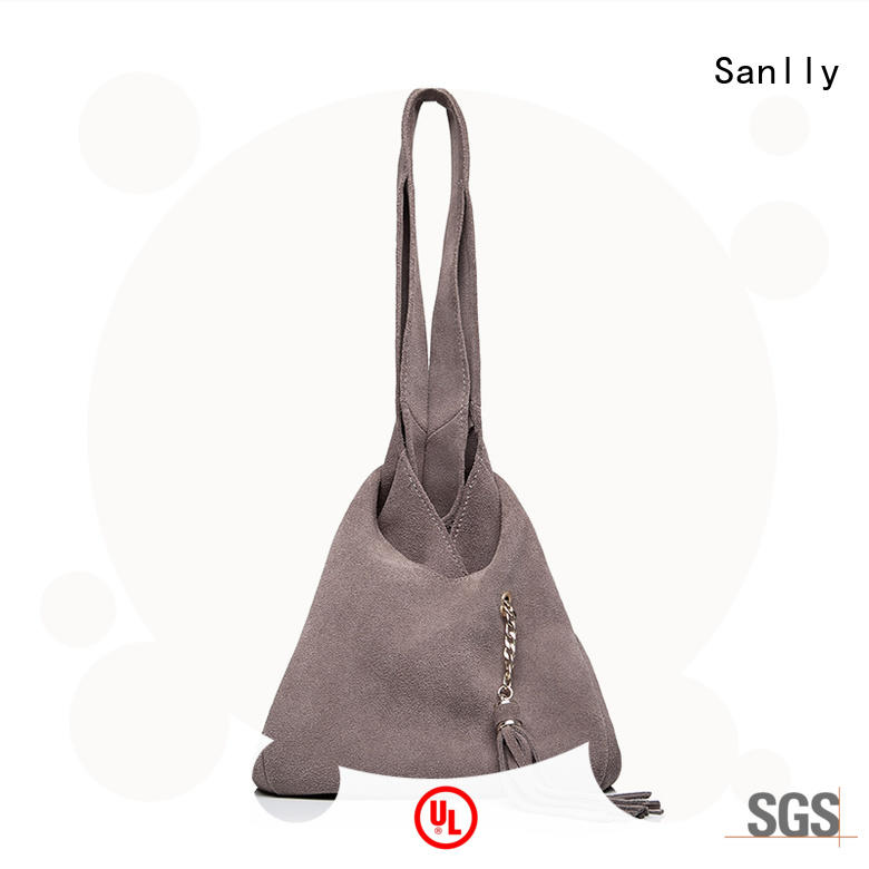 Sanlly cool ladies leather tote bag customization for women