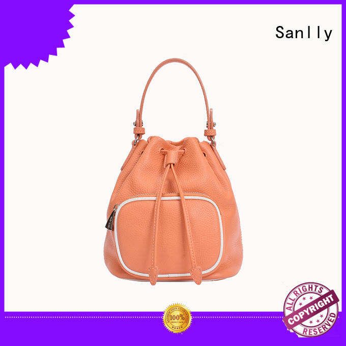 casual best leather tote bags leather for girls Sanlly