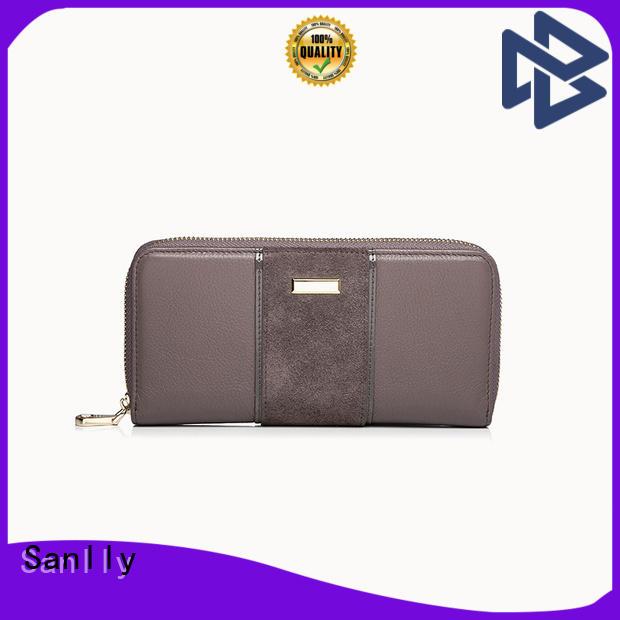 Sanlly fashion best women's zip wallets for business for single shoulder