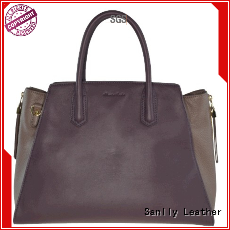 Sanlly leather small bags for women leopard haircalf design for women