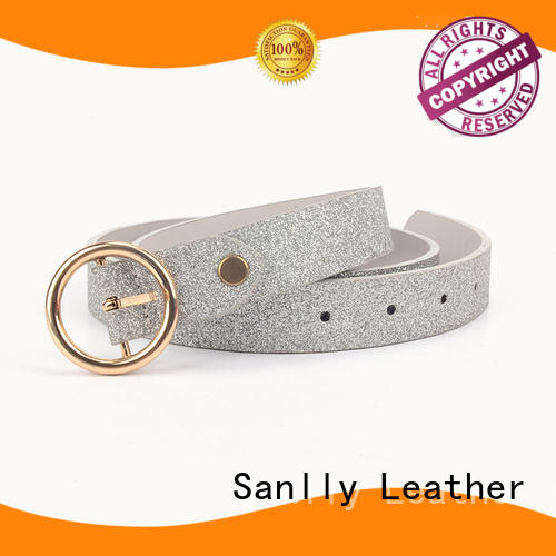 High-quality ladies black belt with silver buckle womens manufacturers