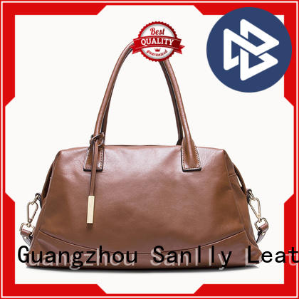 Sanlly solid mesh it leather bag OEM
