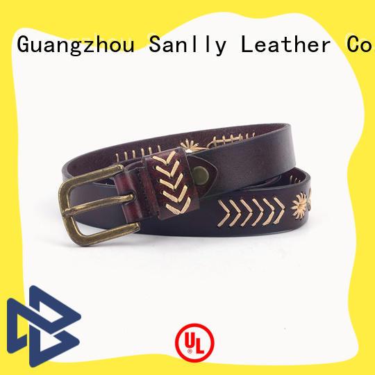 Sanlly quality mens designer formal belts for wholesale for shopping