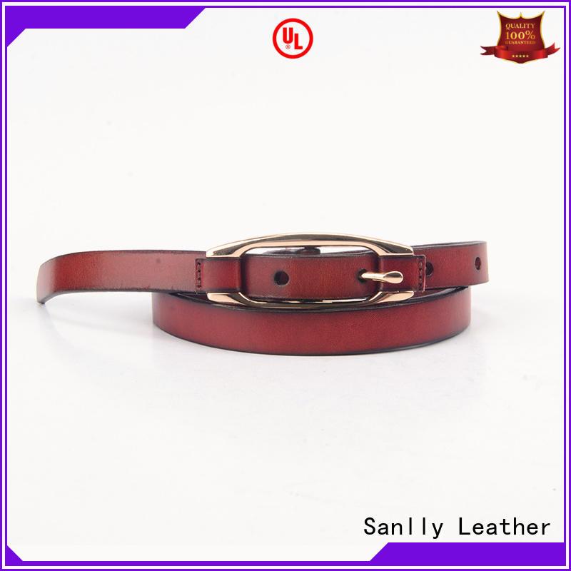 Sanlly funky mens casual leather belt free sample for modern men