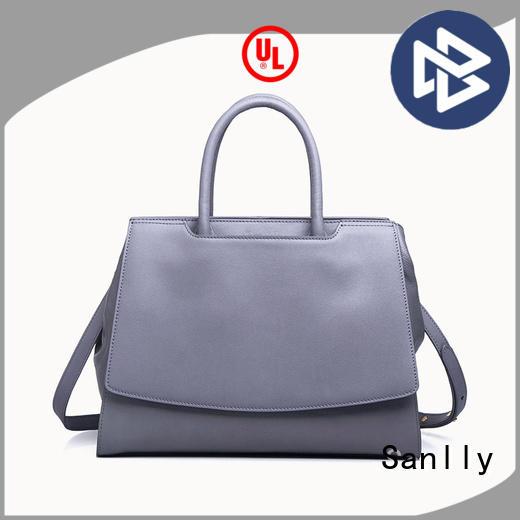 Sanlly brown best leather handbags factory