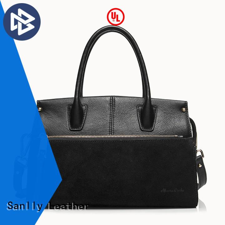 leather women's designer handbags supplier for women Sanlly