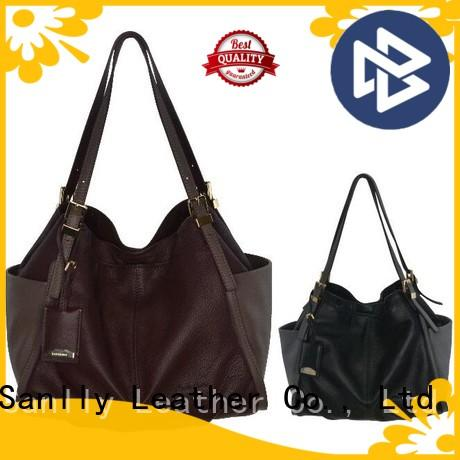 Sanlly leather ladies leather handbags winter suede for women