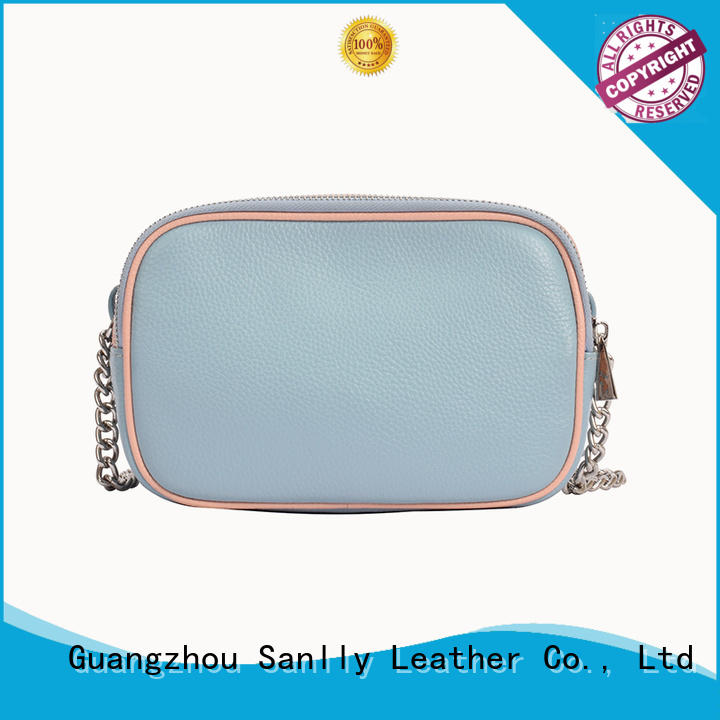 Breathable genuine leather bags design customization for shopping