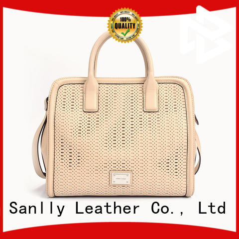 Sanlly genuine ladies black leather bag factory for girls