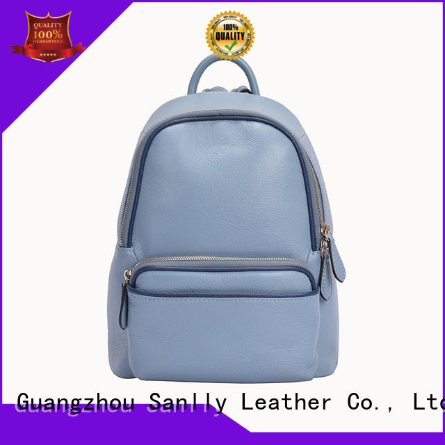 Sanlly high-quality women's mini leather backpack OEM for girls