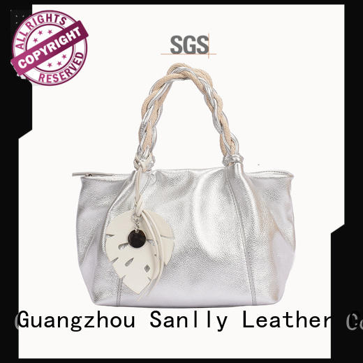 purple large leather handbags supplier for modern women Sanlly