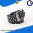 High-quality black and gold designer belt modern supplier for men