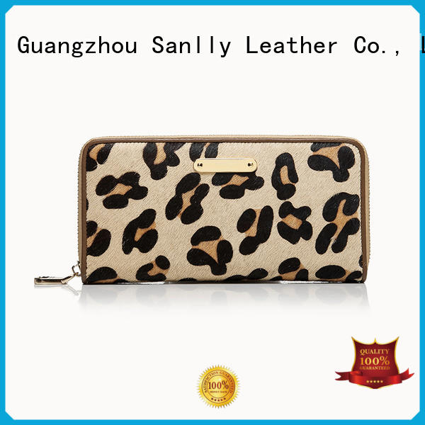 Sanlly zipper womens bifold wallet for business for shopping