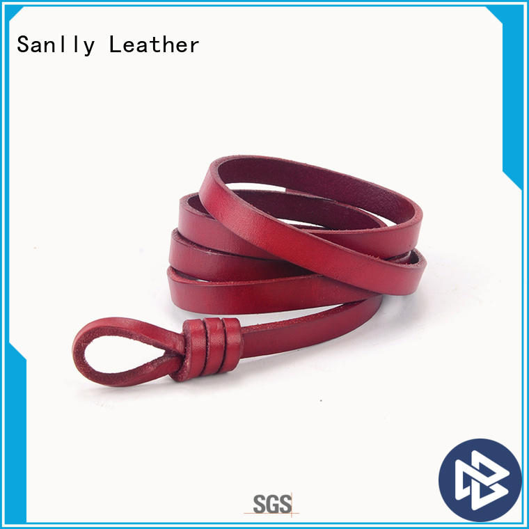 portable womens thick black leather belt style OEM
