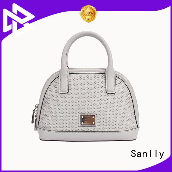 Eyelet Work Design Womens Leather Handbag lady bag