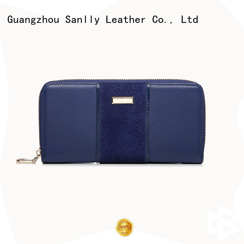 Sanlly lady soft leather wallet womens supplier for women