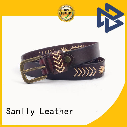Sanlly durable men's leather belts supplier for shopping