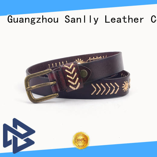 Sanlly leather mens real leather belts get quote for shopping