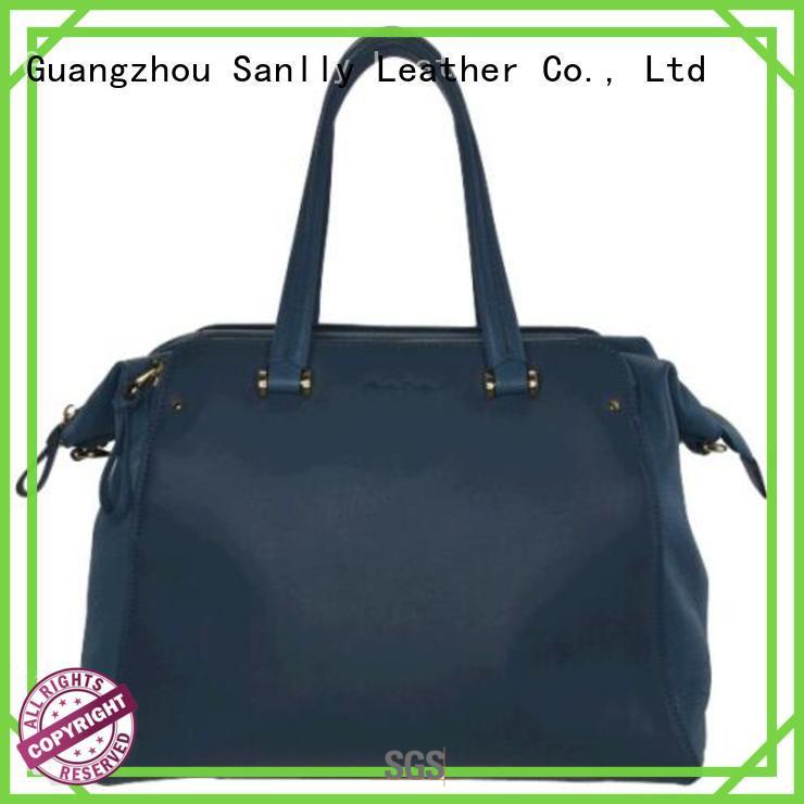 Sanlly high quality ladies leather handbags stylish for fashion