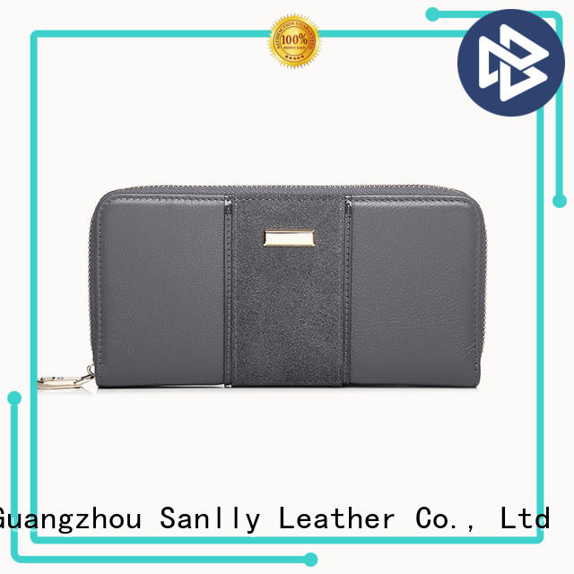 on-sale womens trifold leather wallet nubuck ODM for shopping
