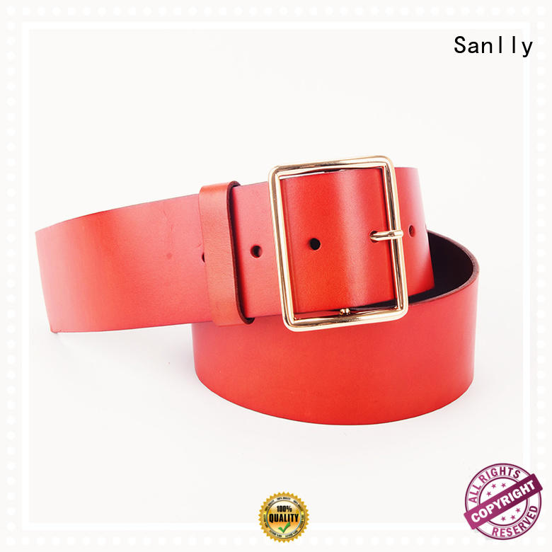 Sanlly solid mesh mens all leather belts ODM for girls
