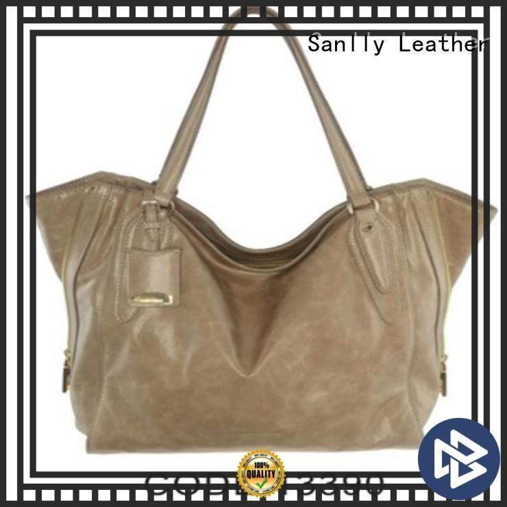 Sanlly custom small black leather handbag company for winter