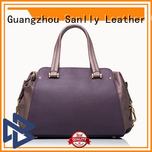 Purple Nappa Genuine Leather Handbags Womens Leather Handbags