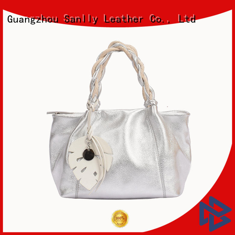 Sanlly latest womens leather tote handbags bulk production for modern women