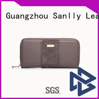solid mesh cute leather wallet lady manufacturers for women