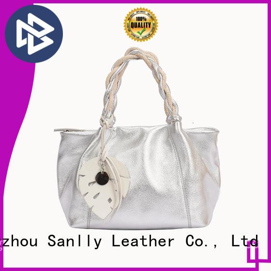 Sanlly portable women's leather handbags ODM for shopping
