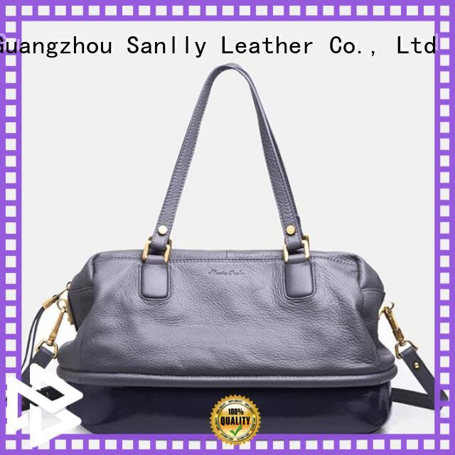 Wholesale small black leather handbag leather company for winter