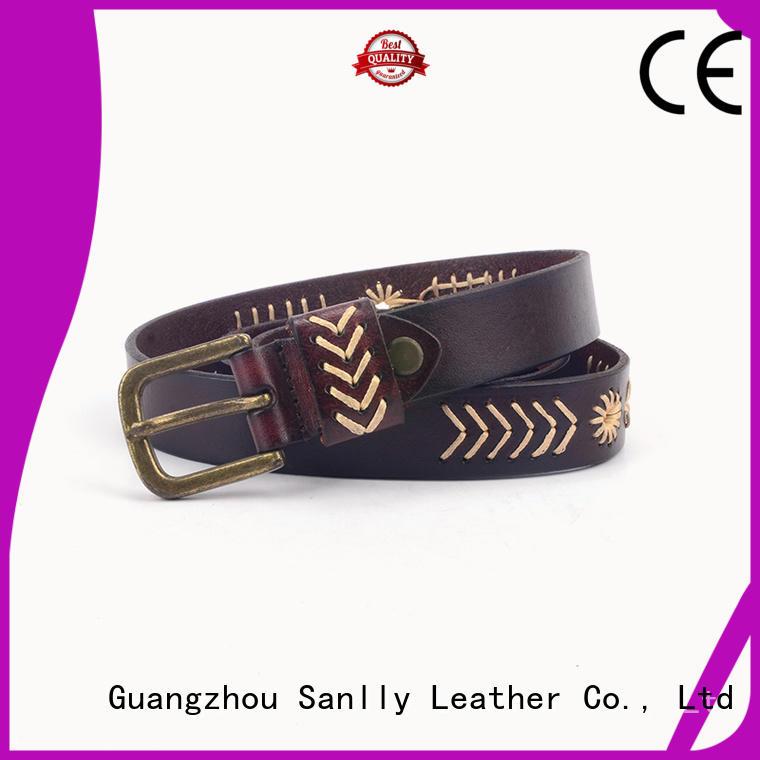 Sanlly buckle blue dress belt mens company for girls