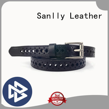 Sanlly hollow thin belt for dress for wholesale