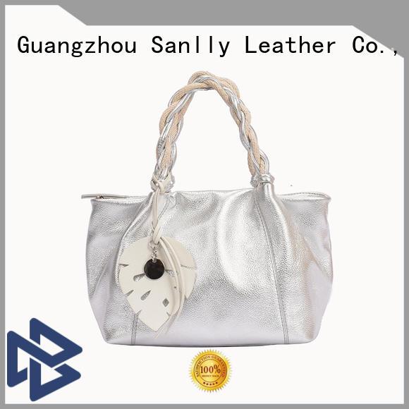 Sanlly handbags womens leather tote handbags bulk production