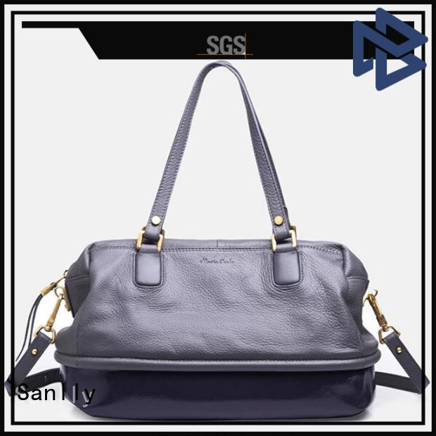 Sanlly favorable in price ladies leather handbags winter suede for women