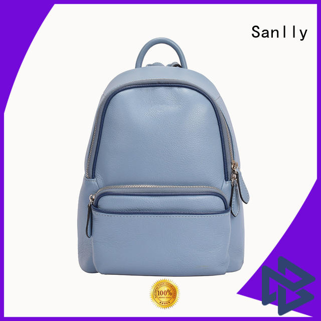 Sanlly real leather backpack style factory for modern women