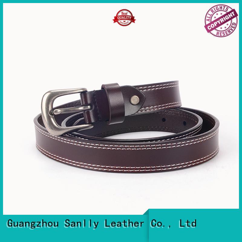 Sanlly belts mens leather belt online OEM for girls