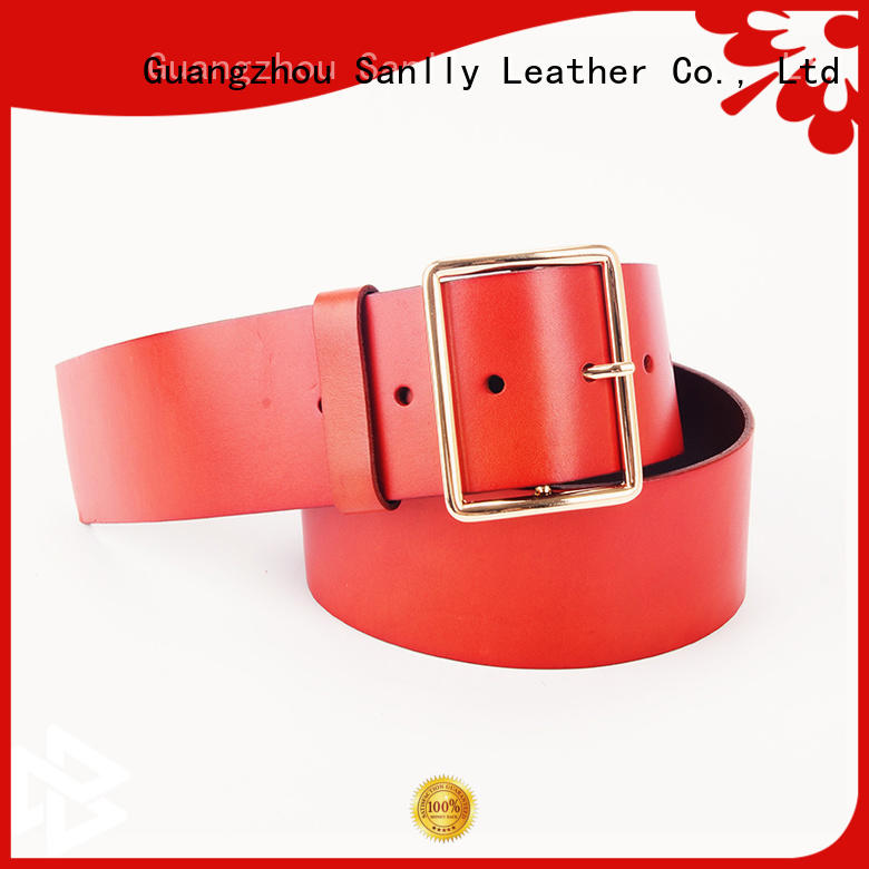 Sanlly Latest leather belt price OEM for shopping