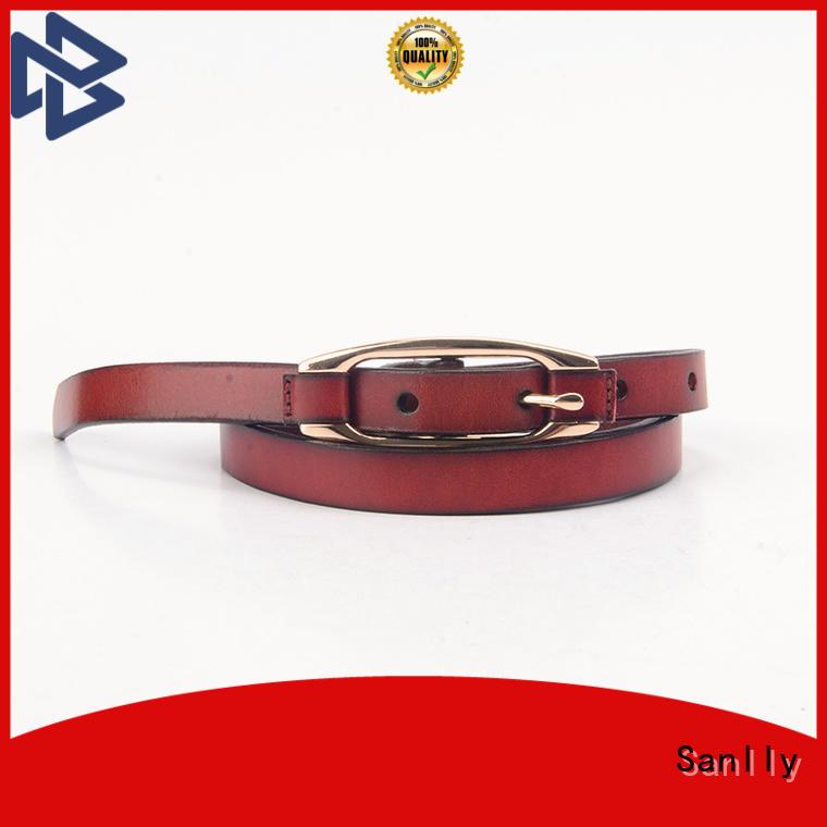 Sanlly funky mens gold belt Supply for men