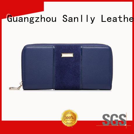 Breathable female leather wallet nubuck ODM for modern women