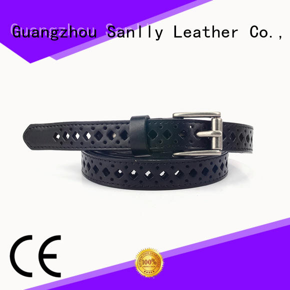 Sanlly on-sale womens black leather belt gold buckle company