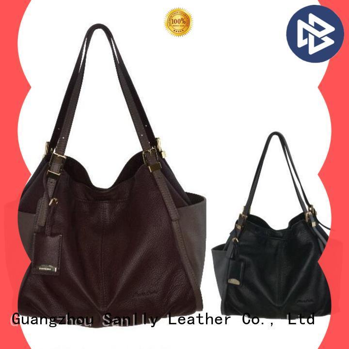 Sanlly leather ladies grey handbags company for summer
