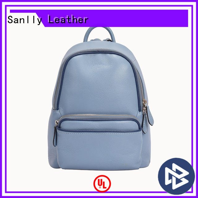 Breathablewomens leather backpacks leather bulk production for women